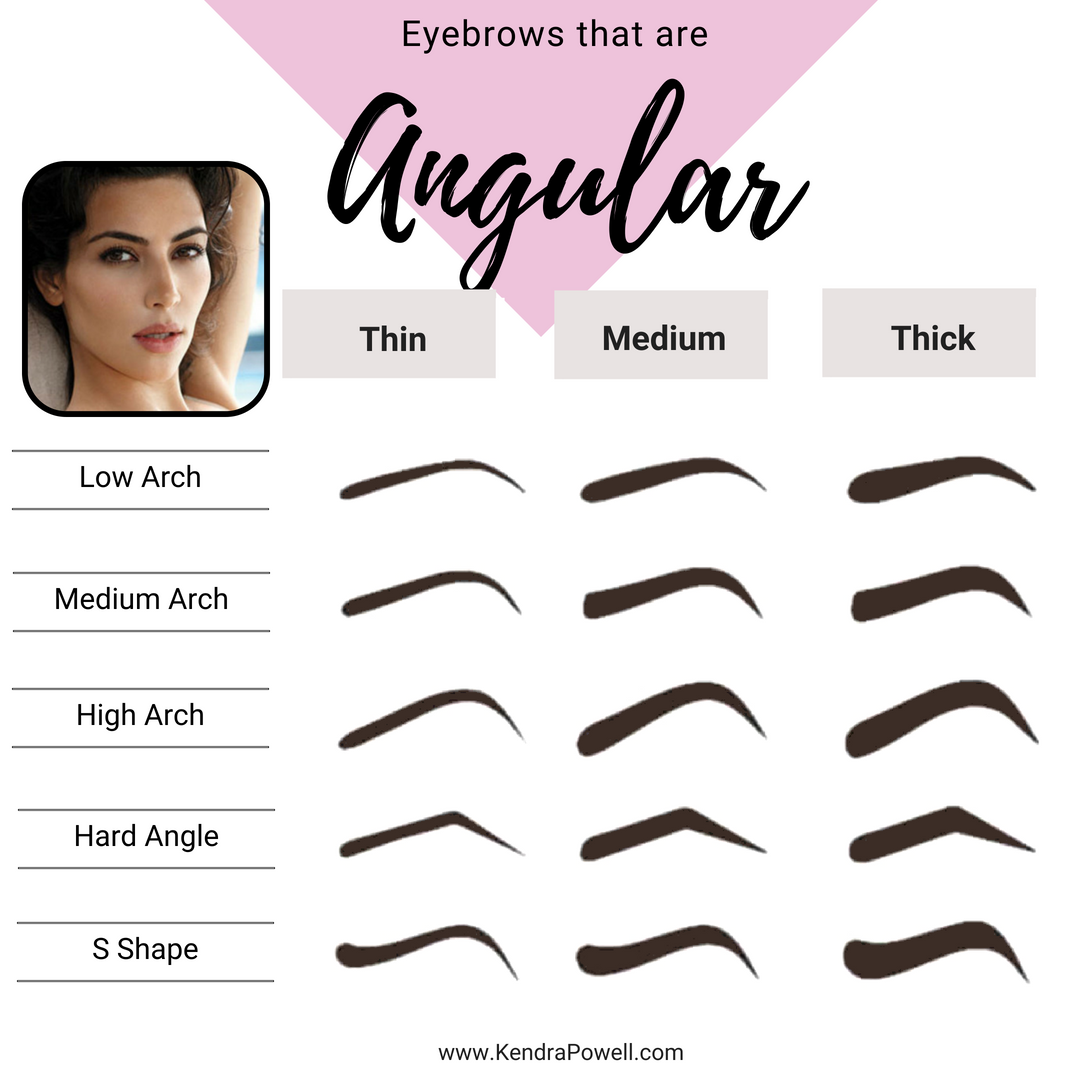 Everything Eyebrow Shapes | Arched Eyebrows | Angular Eyebrows