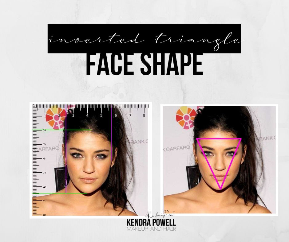 What's Your Face Shape? | Inverted Triangle Face Shape | Makeup & Hair by Kendra
