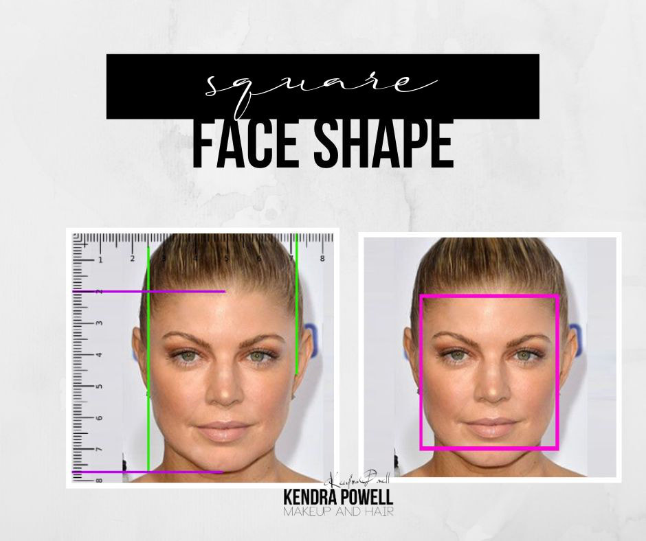 What's Your Face Shape? | Square Face Shape | Makeup & Hair by Kendra