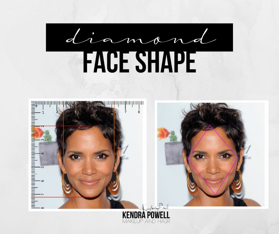 What's Your Face Shape? | Diamond Face Shape | Makeup & Hair by Kendra