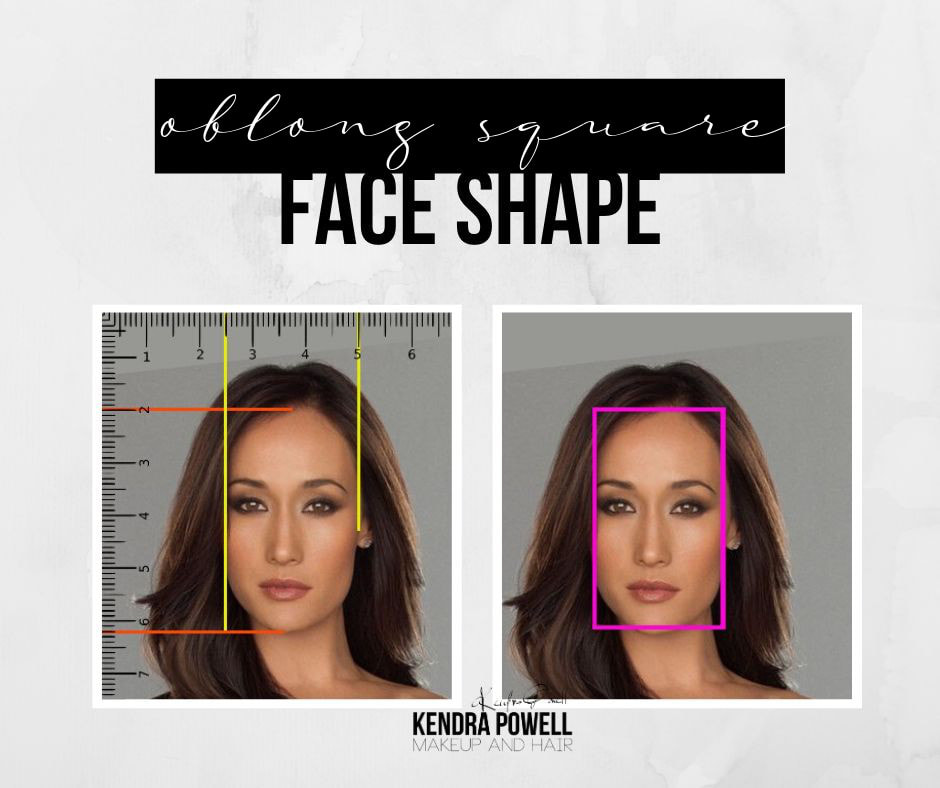 What's Your Face Shape? | Oblong Square Face Shape | Makeup & Hair by Kendra