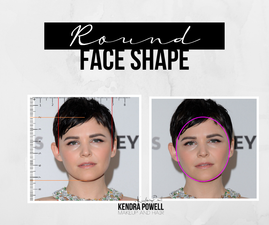 What's Your Face Shape? | Round Face Shape | Makeup & Hair by Kendra