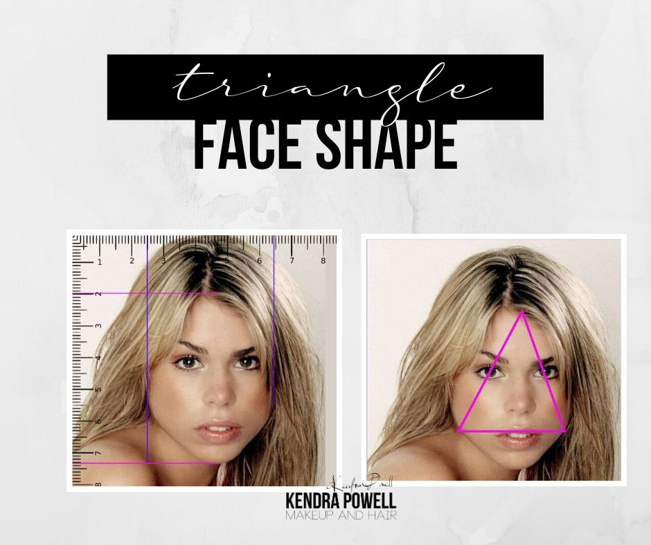 What's Your Face Shape? | Triangle Face Shape | Makeup & Hair by Kendra